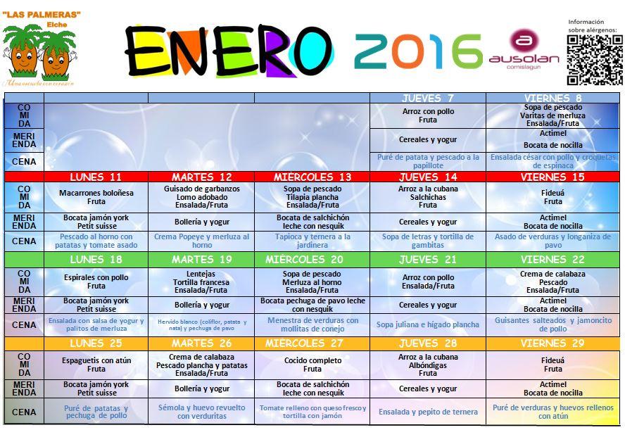 men enero 2016 escuela infantil las palmeras centro de